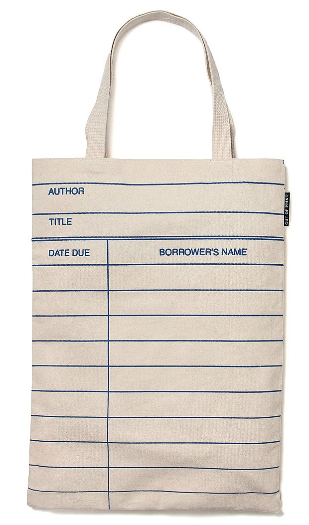 Library Card Tote Bag | UncommonGoods