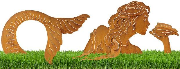 Mermaid Lawn Sculpture   UncommonGoods