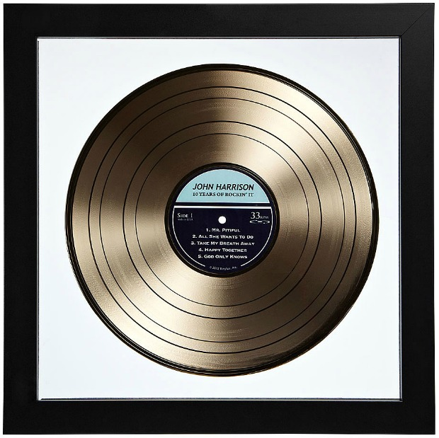 Personalized Gold LP Record | UncommonGoods