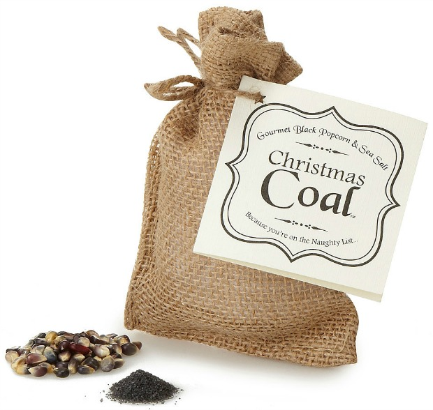 You've Been Naughty Popcorn Coal | UncommonGoods