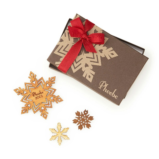 Personalized Cherry Wood Snowflake Ornament | UncommonGoods