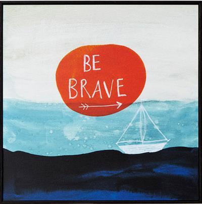 Be Brave Framed Art Block | UncommonGoods