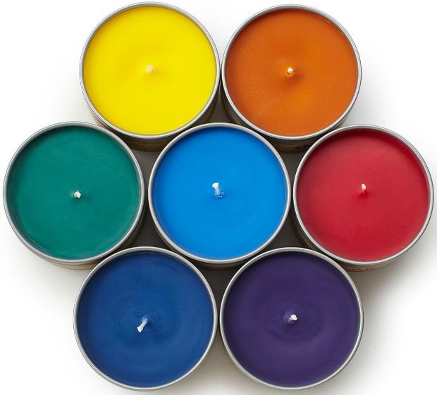 Chakra Candles - Set of 7   UncommonGoods