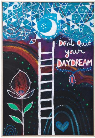Don't Quit Your Daydream Art Block | UncommonGoods