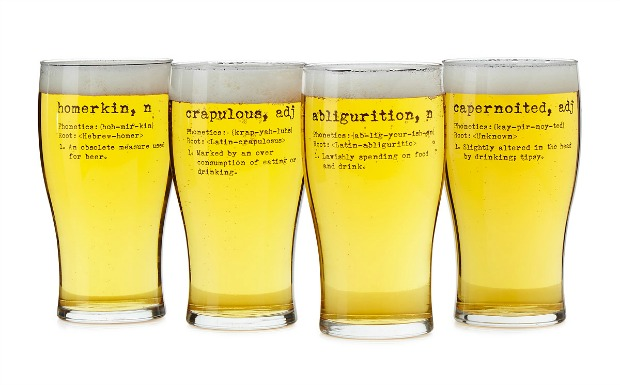 Life by Definition Beer Glasses - Set of 4   UncommonGoods
