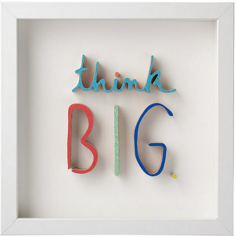 Think BIG. Art Shadow Box | UncommonGoods