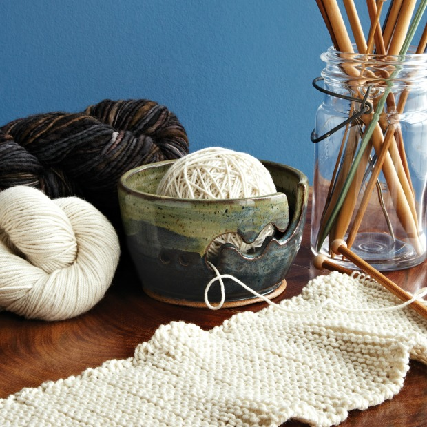 Make Waves Yarn Bowl | UncommonGoods