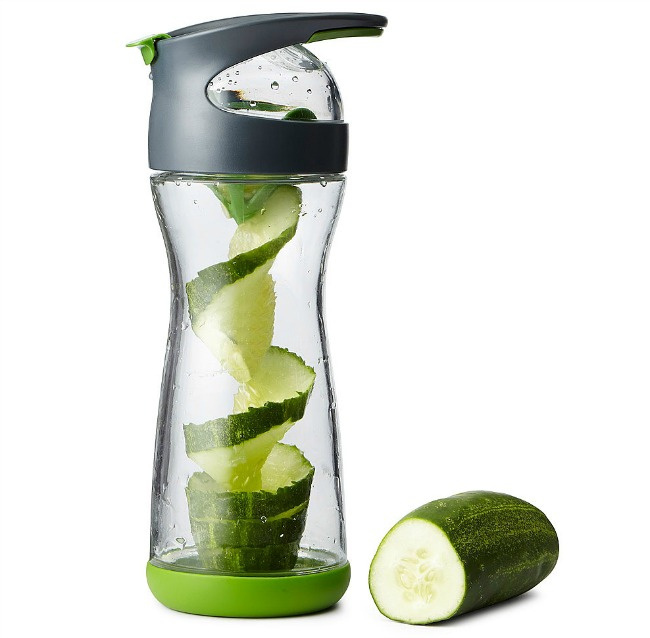Cucumber Infuser Water Bottle | UncommonGoods