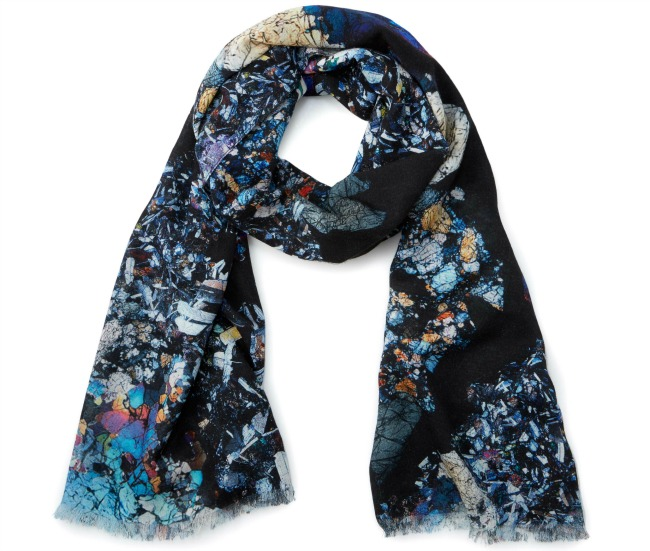 Meteorite Cross Section Scarf | UncommonGoods