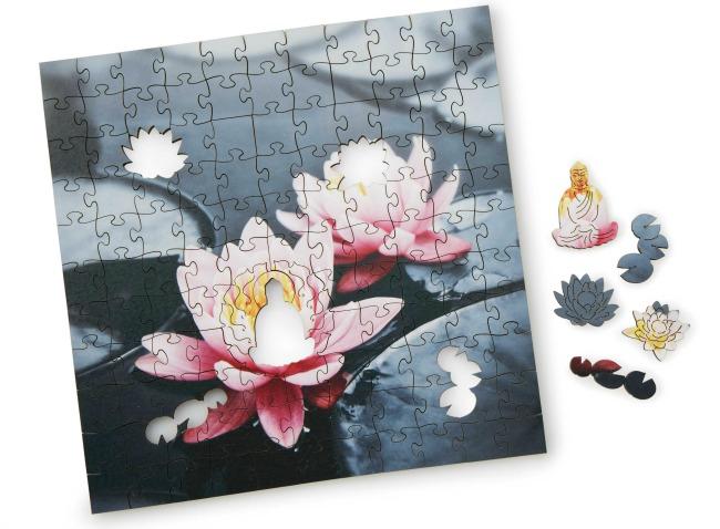 Zen Lotus Wooden Heirloom Puzzle | UncommonGoods