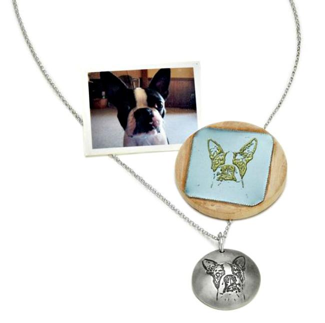 custom pet portrait pendant