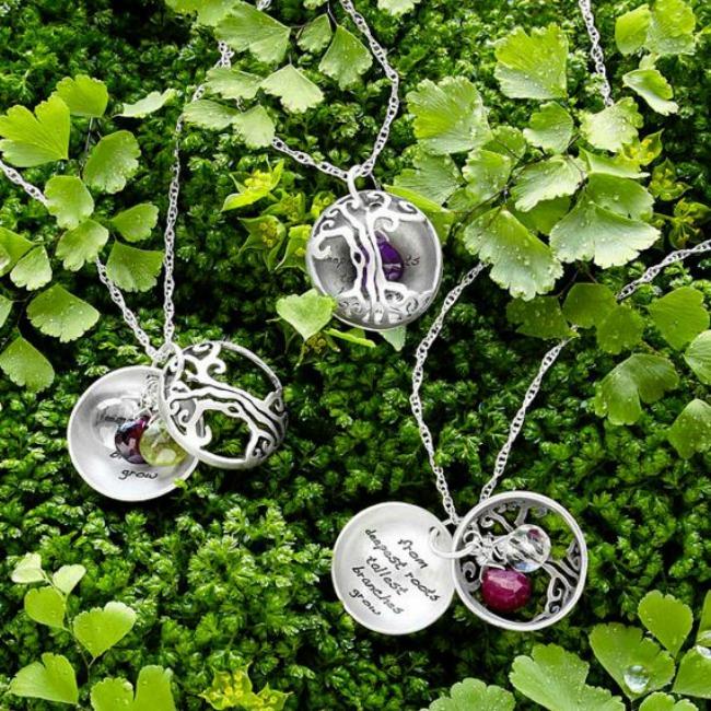motherhood tree of life custom necklace