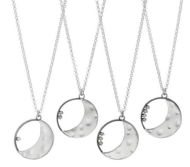 personalized crescent moon necklace