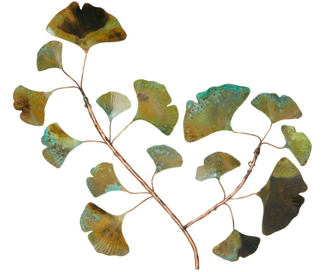 Copper Patina Ginkgo Wall Piece Art | UncommonGoods