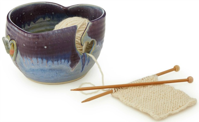 Gemstone Heart Yarn Bowl | UncommonGoods