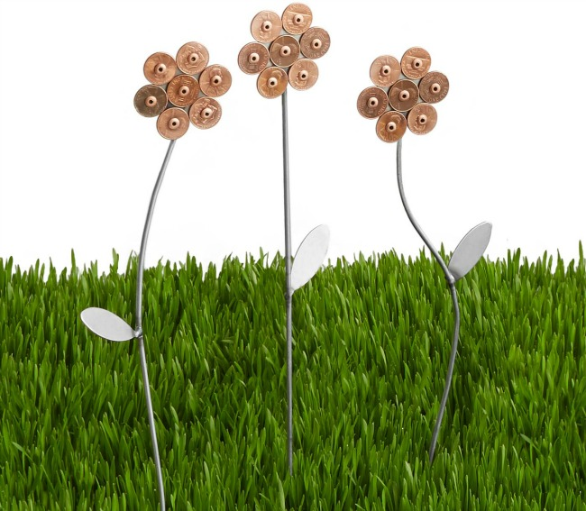 Lucky Penny Garden Flowers - Set of 3 | UncommonGoods