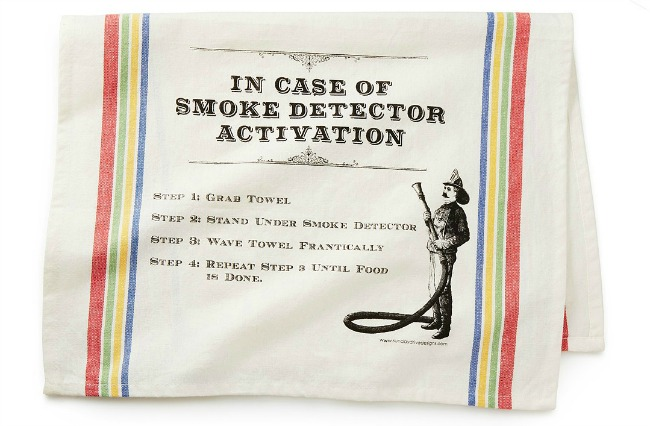 Smoke Detector Deactivation Towel | UncommonGoods
