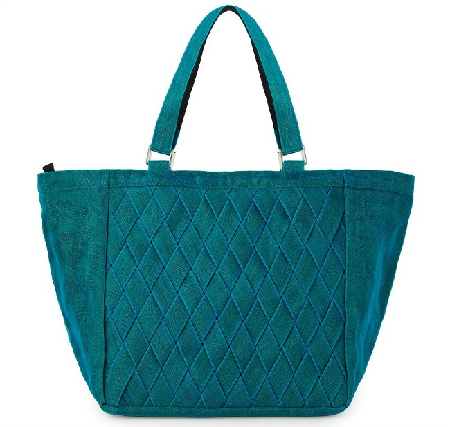 Teal Woven Netting Tote | UncommonGoods