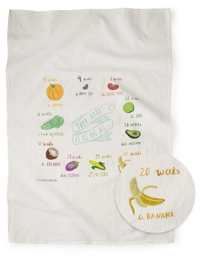 Growing Belly Tea Towel | UncommonGoods