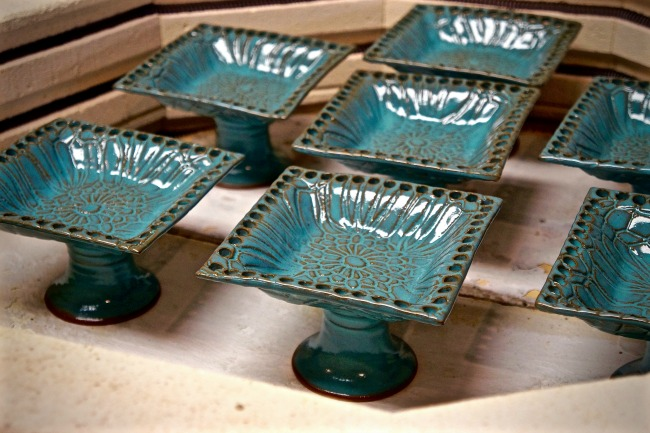Pedestal Jewelry Holders, fresh from the kiln