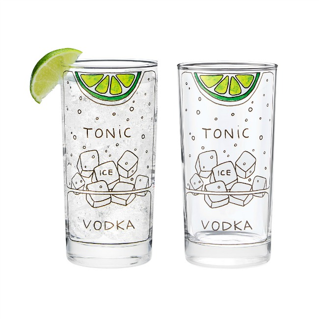 Vodka Tonic Diagram Glasses | UncommonGoods