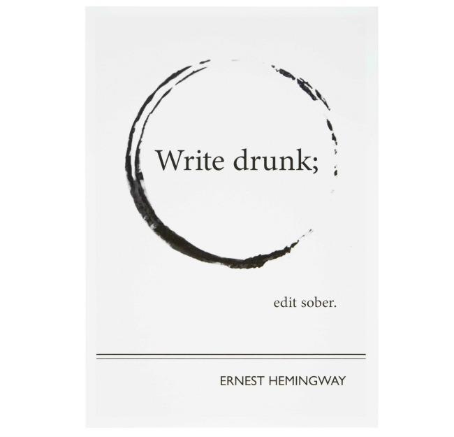 Hemingway Literary Poster 650