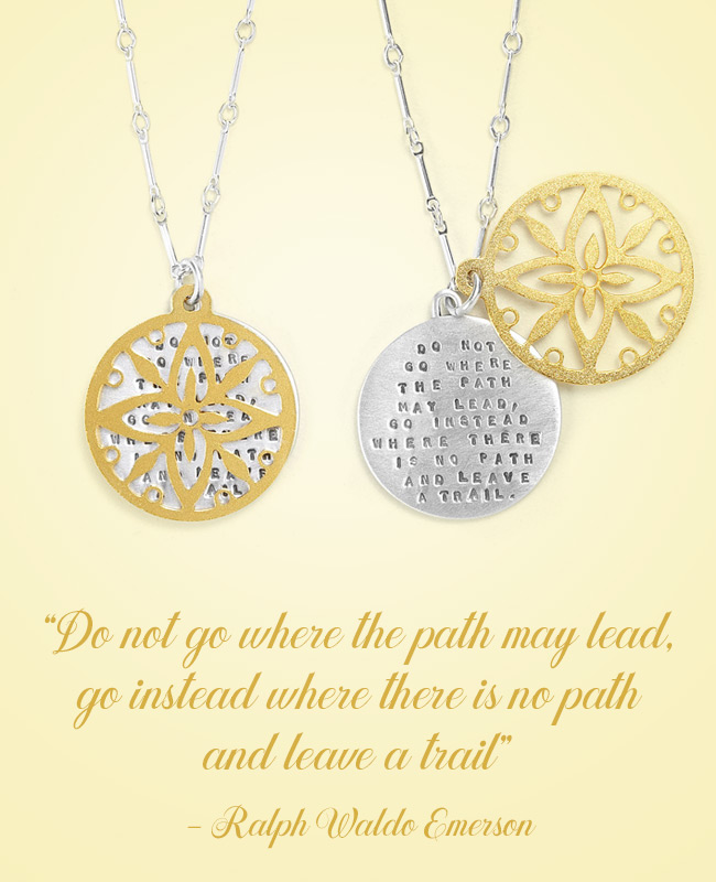Ralph Waldo Emerson Inspirational Jewelry - Necklace | UncommonGoods