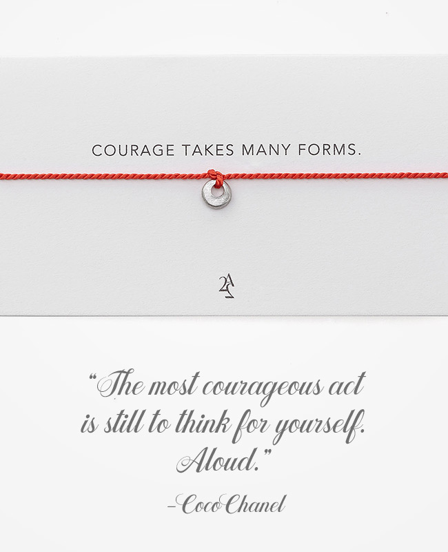 Coco Chanel Quote Inspirational Jewelry - Necklace