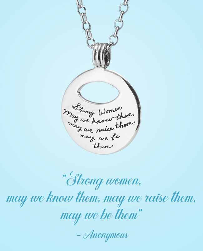 Inspirational Jewelry - Strong Woman Pendant | UncommonGoods