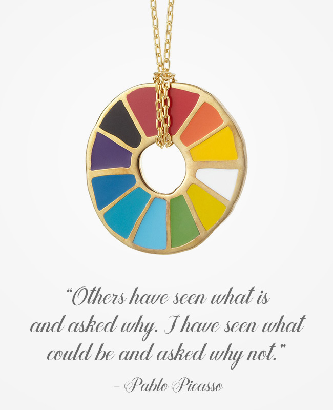 Picasso Inspirational Jewelry - Necklace