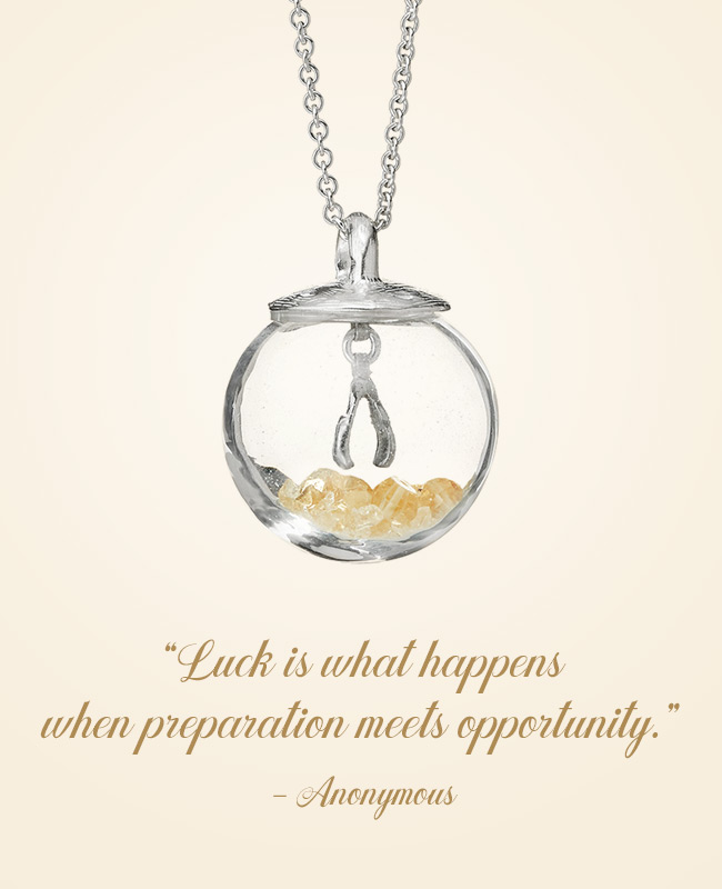 Inspirational Jewelry - Glass Globe of Luck Necklace | UncommonGoods