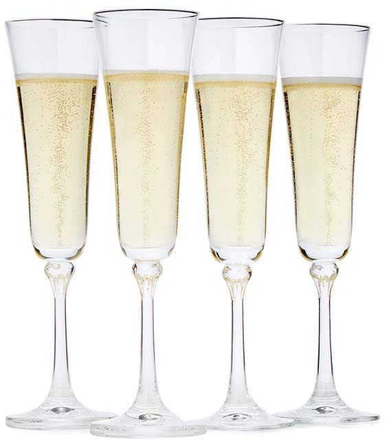 Constant Sparkling Champagne Flutes - Set of 4 | UncommonGoods