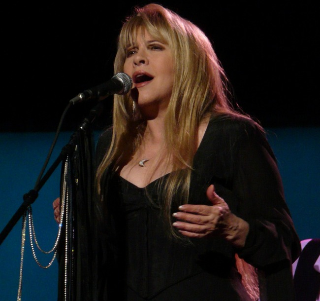 https://commons.wikimedia.org/wiki/File:StevieNicks.jpg Use without citation is a violation of law. This file is licensed under the Creative Commons Attribution 3.0 Unported license. https://creativecommons.org/licenses/by/3.0/deed.en STEVIE NICKS Live with Fleetwood Mac on March 3, 2009 in St. Paul, MN at the Xcel Energy Center. Photo by Matt Becker, melodicrockconcerts@gmail.com