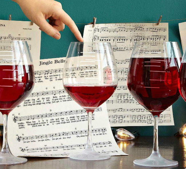 Major Scale Musical Wine Glasses | UncommonGoods