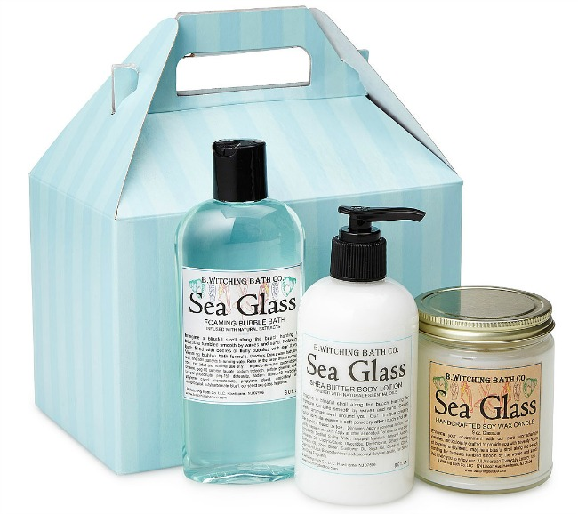Sea Glass Scents Bath Gift Box | UncommonGoods