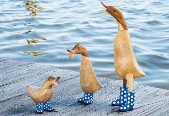 Spotted Wellies Garden Ducks | UncommonGoods