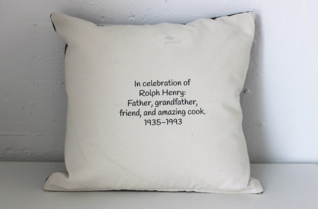 Personal Shirt and Message Pillow - Memorial -Message | UncommonGoods