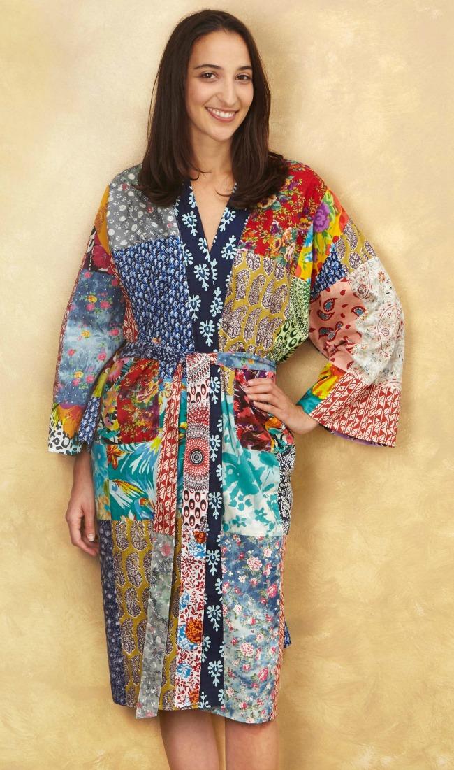 Upcycled Cotton Sari Robe | UncommonGoods