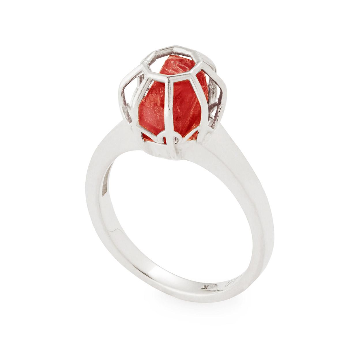 Rough Pink Tourmaline Stone Ring | UncommonGoods