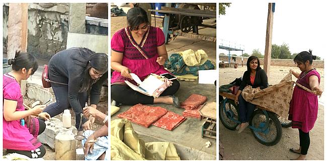 Rachna & Ruchika working in India