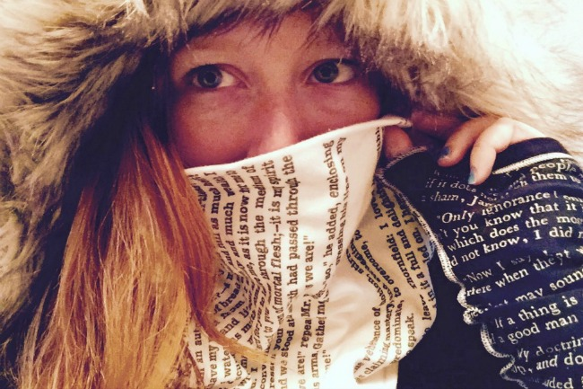 Literary Scarf - Literary Writing Gloves - UncommonGoods