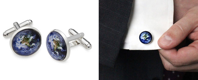 Earth Cufflinks | Uncommongoods