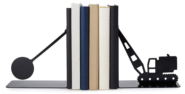 Wrecking Ball Bookends - UncommonGoods