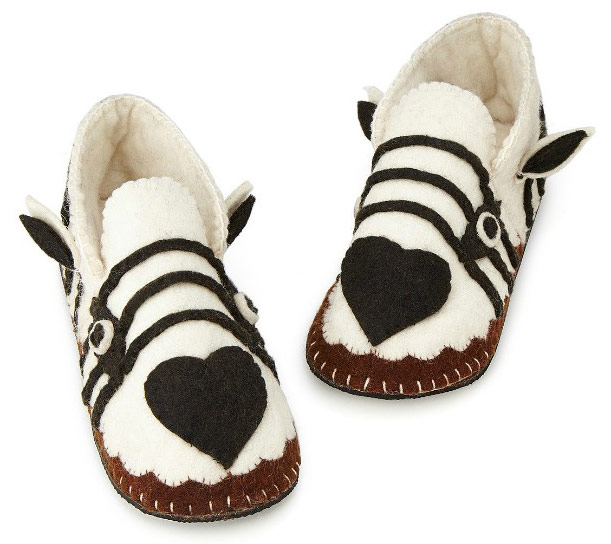 Handmade Zebra Slippers - UncommonGoods