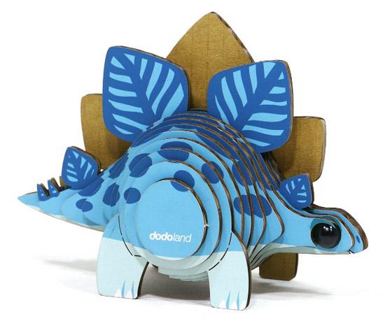 Mini Stegosaurus 3D Model Kit - UncommonGoods