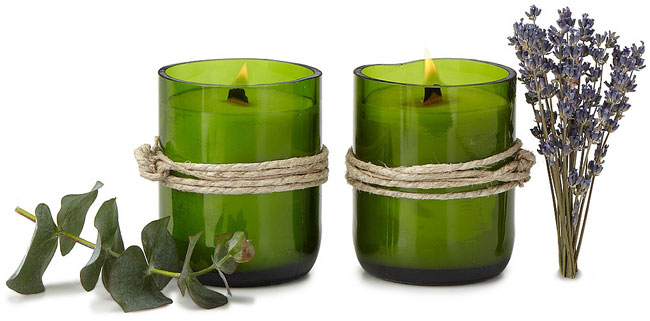 Recycled Wine Bottle Candle - UncommonGoods