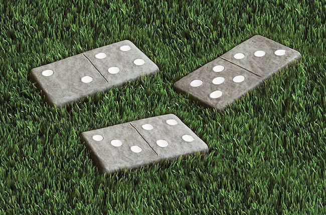 Dominoes Stepping Stones | UncommonGoods