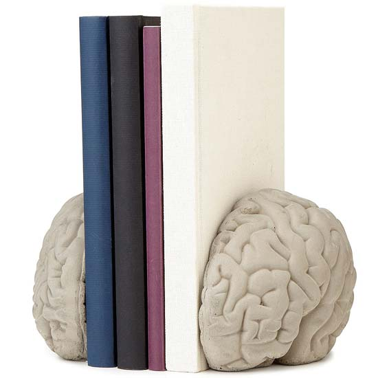Brain Bookends | UncommonGoods