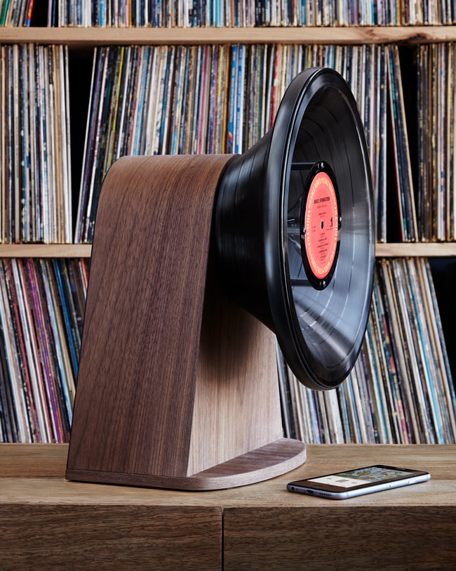 Vintage Vinyl Bluetooth® Speaker | UncommonGoods