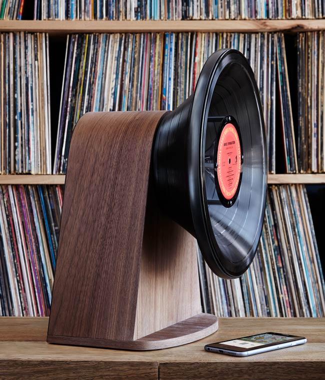 Vintage Vinyl Bluetooth Speaker | UncommonGoods